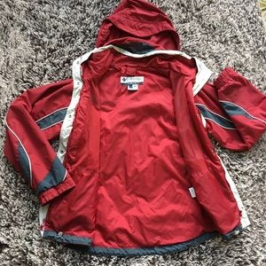 Columbia red ski snowboard jacket coat large L